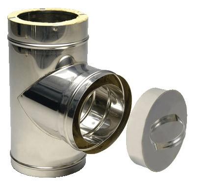 Ревизия из нержавеющей стали с термоизоляцией